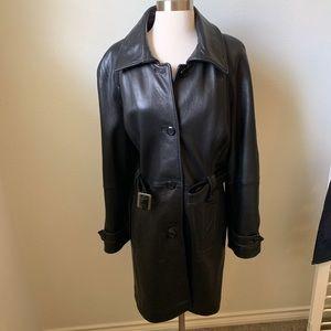 Genuine Lamb Skin Leather Jacket Long L